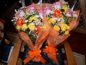 プレゼントの花束です。ありがとう!