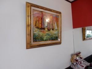 35年前の荒井慧画伯の油絵も掛けました