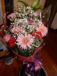 花束を頂きました